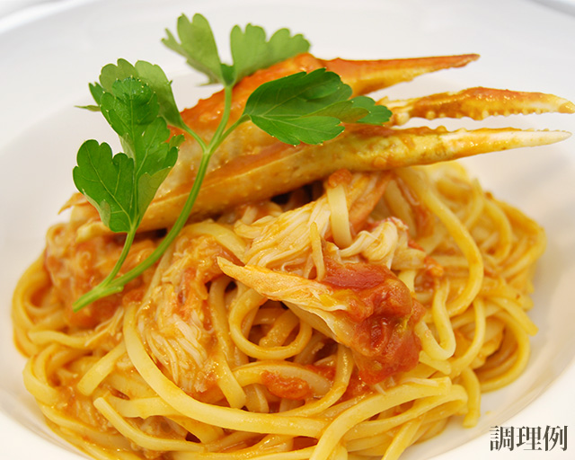 松蔵フィットチーネ蟹のトマトクリームソース